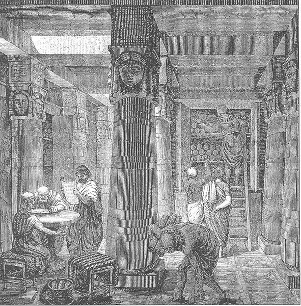 Ancientlibraryalexandria @ wikipedia.org http://en.wikipedia.org/wiki/Image:Ancientlibraryalex.jpg