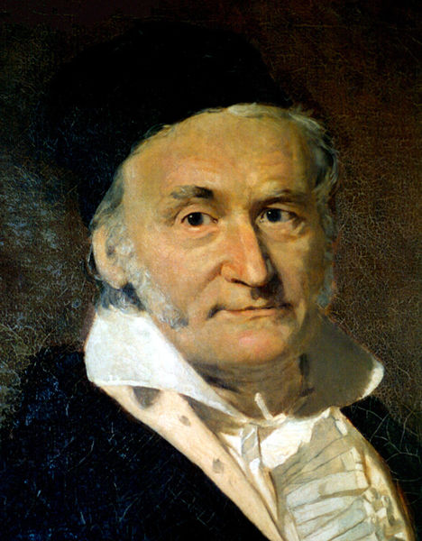 Carl Friedrich Gauss @ wikipedia.org