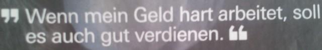 HarteArbeit Zeitungsanzeige, 26.03.13